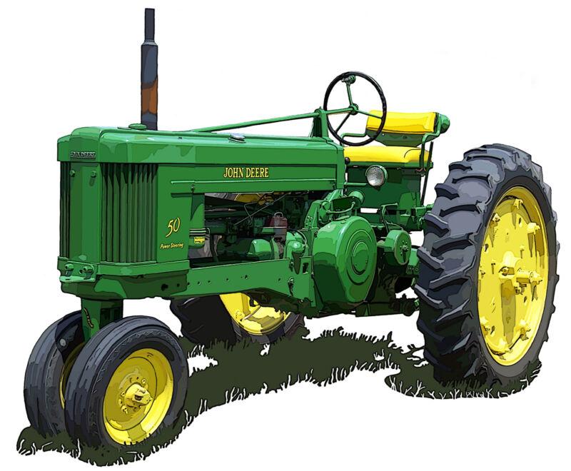 John Deere Model 50 canvas art print by Richard Browne farm tractor
