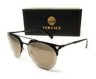 Versace VE2181 12615A Matte Black Men's Pilot Sunglasses 57-18