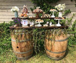Wine barrels and wine barrels bar/table for rent