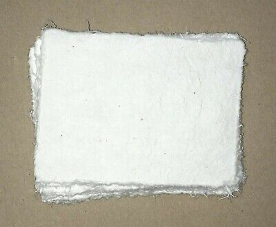 "Handmade Paper - 20 sheets - 6""x8"" - WHITE - Deckle Edge - Acid Free Natural"