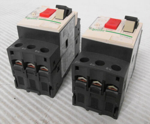 (2) Assorted Schneider Electric Motor Circuit Breakers (1) GV2ME04 & (1) GV2ME06