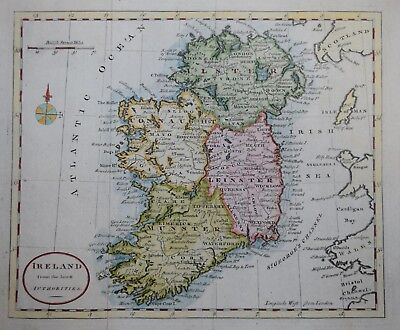 A MAP OF IRELAND FROM THE LATEST AUTHORITIES.., CIRCA 1800.