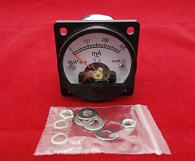 1pc Dc 0-300ma Analog Ammeter Panel Amp Current Meter So45 Cutout 45mm