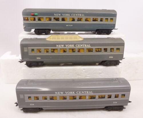 MX Marx Postwar New York Central Meteor 3/16 Passenger Car Set