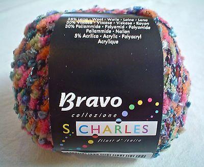 Stacy Charles Bravo Yarn   3 Multi Color Multi Texture Blend 50 Grams