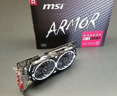 MSI Radeon RX 580 ARMOR OC Edition 8GB GDDR5 Video Card - Near Mint!