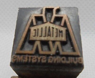 Vintage Printing Letterpress Printers Block Metallic Building Systems