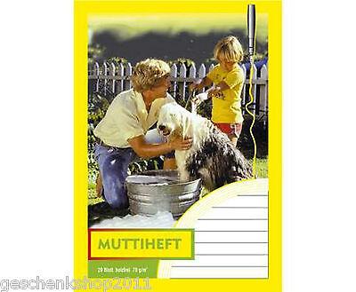 Muttiheft Oktavheft Aufgabenheft A6 20 Blatt Mitteilungsheft