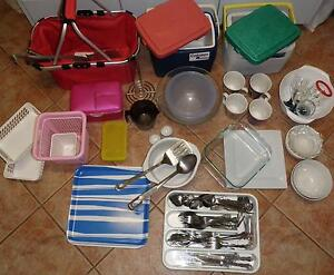 2 Coleman Eskys, Cutlery, Pyrex Baking Dish & Other Kitchenware Bassendean Bassendean Area Preview