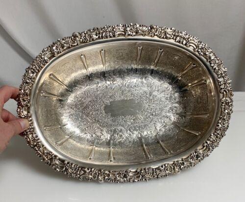 Vintage Barker Ellis Silverplate Ornate Oval Footed Bowl -  59870