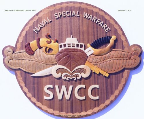 NAVAL SPECIAL WARFARE COMBATANT-CRAFT CREWMAN (SWCC) Wood Art Plaque
