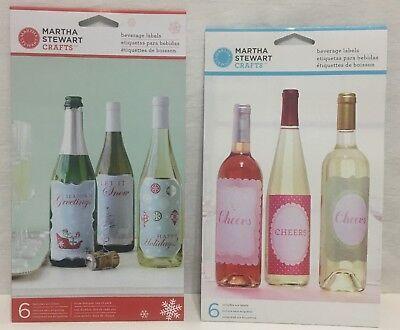 Martha Stewart Craft Beverage Bottle Labels DIY Gift NEW 12 labels Christmas ()