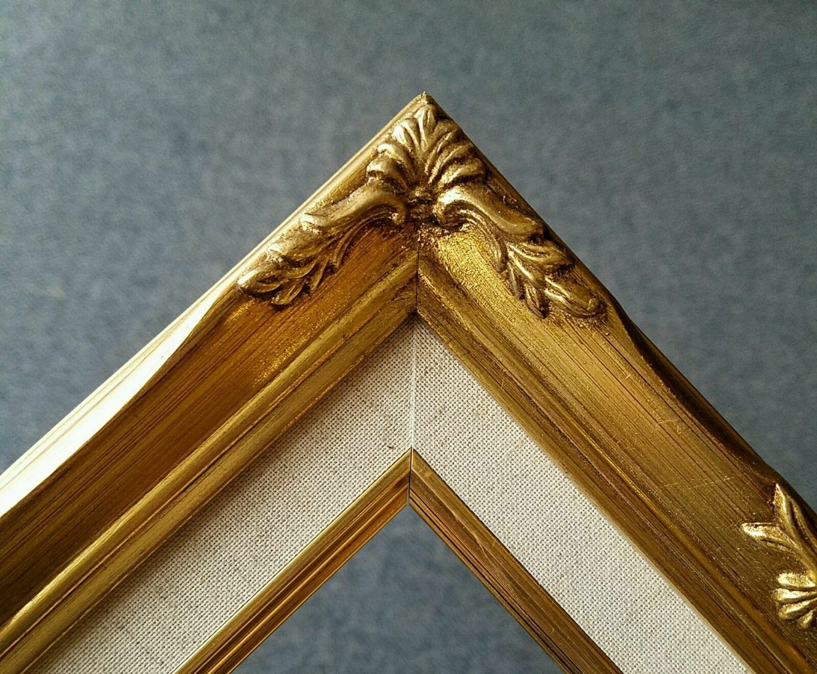 8x10 Classic Gold Leaf Ornate Art Photo Picture Frame Linen Liner ...