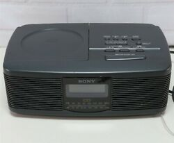 Sony Digital Alarm Clock Stereo CD Compact Disc Player AM FM Radio ICF-CD810