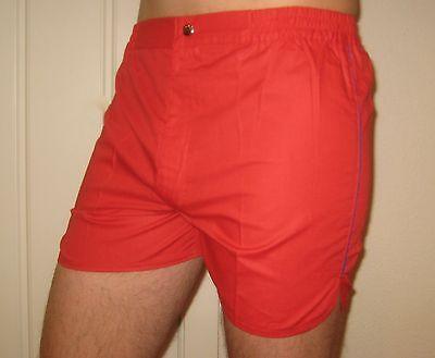 NEW Vtg 70s 80s Vanderbilt RED Striped Mens SMALL Retro TENNIS Track shorts NOS