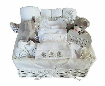 Baby Gift Basket Unisex.Baby Hamper. Baby Shower Gift Basket Neutral. Nappy Cake