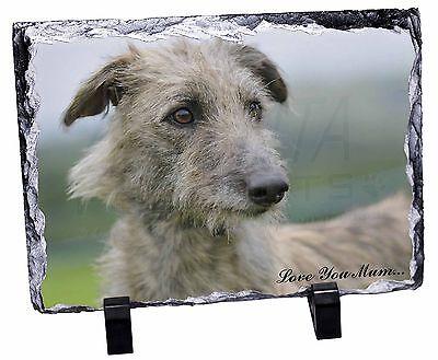 Rough Coated Lurcher 'Love You Mum' Photo Slate Christmas Gift Orna, AD-LU6lymSL
