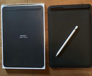iPad Pro 10.5 genuine Apple Leather Sleeve + Pencil