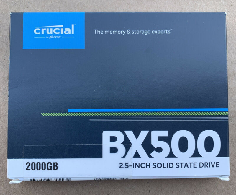 Crucial BX500 2TB 3D NAND SATA 2.5-Inch Internal SSD, up to 540MB/s - CT2000BX5