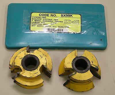 Shaper Cutter Carbide Bx99k V Paneling 3 Wing