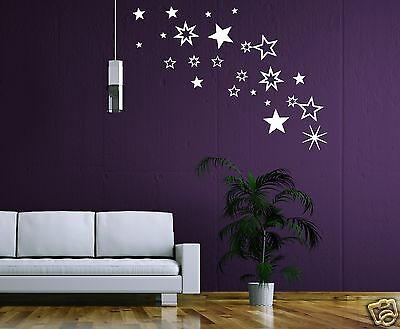 30! Sterne Fensteraufkleber Deko Wandaufkleber Fensterbild, Wandtattoo Sternchen