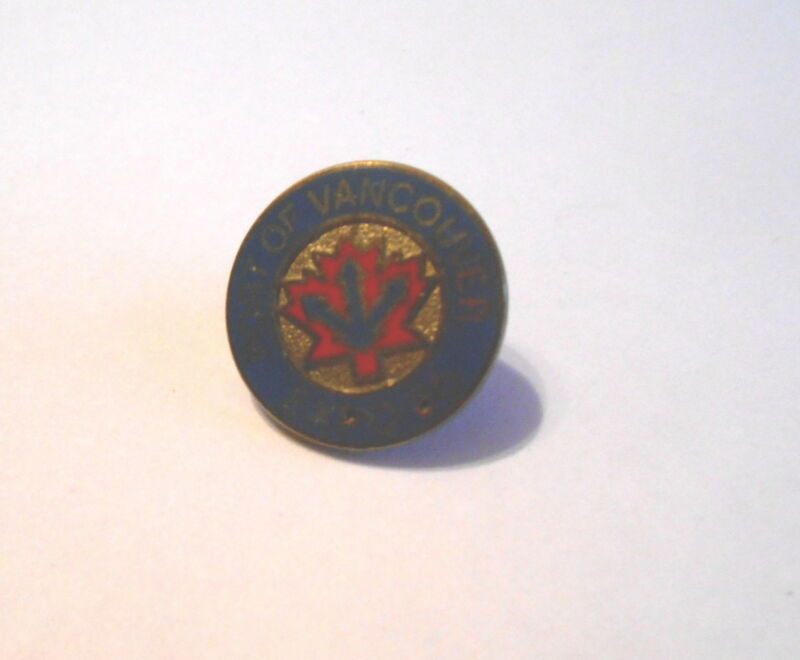 Cool Vintage 1986 Port of Vancouver Canada Worlds Fair Expo Souvenir Pin Pinback