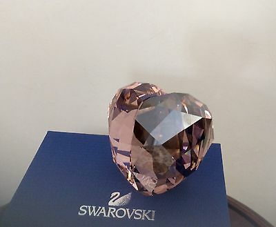 Large Swarovski Crystal Heart: HERS & HIS!  2 Colors Paperweight. New in Box!