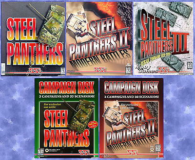 STEEL PANTHERS I, II, III & CAMPAIGNS +1Clk Windows 10 8 7 Vista XP Install