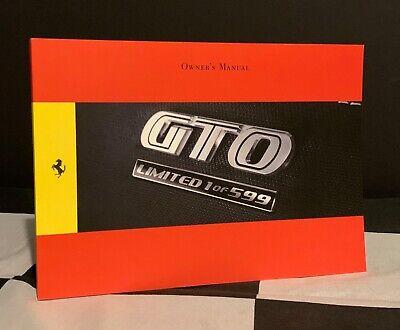 2010 FERRARI 599 GTO OWNERS DRIVER MANUAL HANDBOOK ENGLISH MAY BROCHURE PROSPEKT