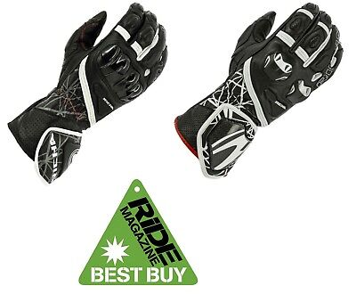 RICHA TIRAN Leather Racing Hard Knuckle Motorcycle Gloves RIDE BEST
