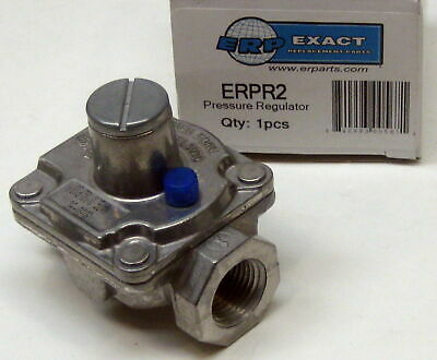 "Gas Pressure Regulator 1/2"" x 1/2"" Natural 5"" LP 10"" ERPR2"