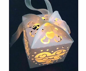 Cute-12x-Cream-Lanterns-Holders-Led-Tea-Light-Tealight-For-Wedding-Party-Candle