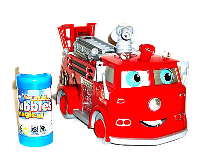 Feuerwehr Seifen Bubble Seifenblasen Auto Truck Car LKW Seifenblasenmaschine Neu