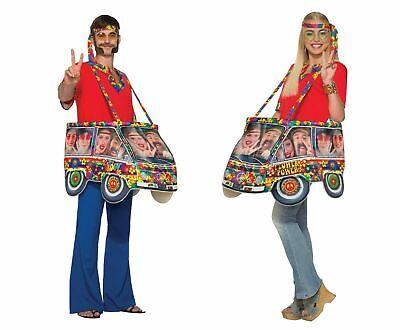Hippie Hippy Reisemobil Kostüm Kostüm 1960s Comedy Neuheit - Reisen Kostüm