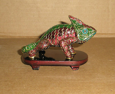 Chameleon Figurine / Cloisonne
