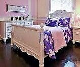 Girls double wood bed frame