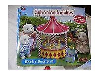 Sylvanian Families Hook a Duck Stall fairground set