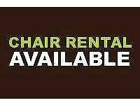 SALON CHAIR RENTAL AVAILABLE
