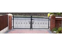 New wrought iron driveway gates various sizes available from 6ft - 16ft