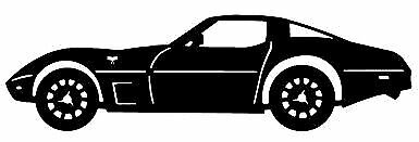 CORVETTE C3 SIDE VIEW Decal STICKER BUY 2 get 1 FREE
