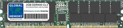 2gb DDR 400mhz Pc3200 184-pin ECC Registrati Rdimm Server /