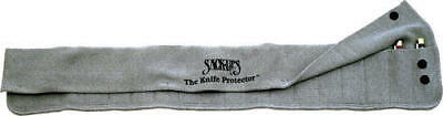 Sack Ups AC807 Silicone Treated Gray Cotton Knife Protector Roll Holds 18 Knives