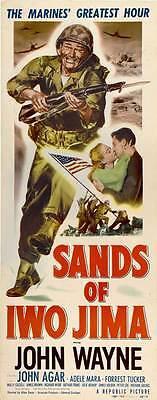SANDS OF IWO JIMA Movie POSTER 14x36 Insert John Wayne Forrest Tucker John Agar