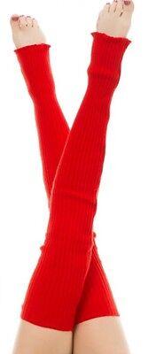 American Apparel Thigh High Knit Long Leg Warmer~RSALWL Scarlet Red Dance-wear