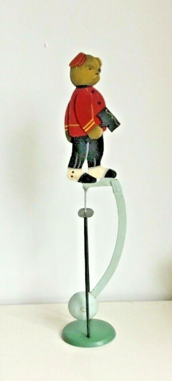 Bellhop Bear Pendulum Rare Collectible ToyAntiqueVintage 1920 Schuco Memorabilia