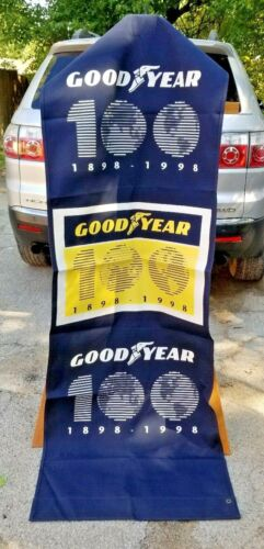 """Vintage Goodyear Tires 100th Anniversary 1898-1998 Banner Sign 92"""" x 30"""""""