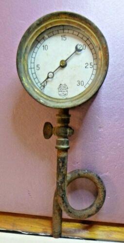 Antique Brass National Steam Specialty Co. Chicago Gauge