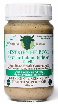 Best of the Bone Organic Italian Herbs & Garlic - grass-fed beef bone broth