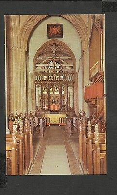 Ernest Joyce Colour Postcard The Interior  Parish Church Dereham  Norfolk