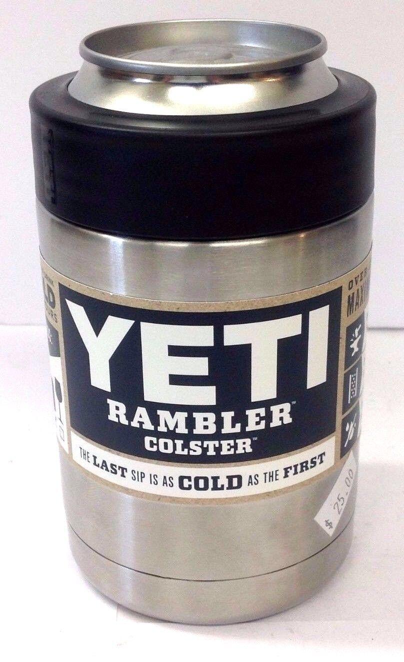 YETI RAMBLER COLSTER CAN / BOTTLE HOLDER COOLER STAINLESS ST